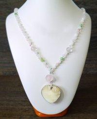 真珠ハート型ペンダント&ネックレス