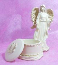 天使の置物☆(天使の小物入れ)